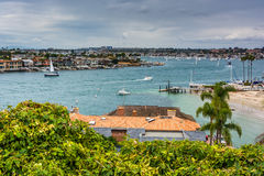 View of Newport Beach from Lookout Point, Corona del Mar  Stock Image