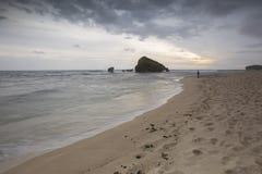 View of Ngandong  Beach, Gunung kidul. Amazing view of Ngandong  Beach, Gunung kidul Royalty Free Stock Images