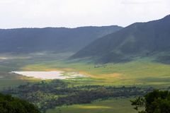 View of NgoroNgoro crater. The lake is inside the crater. Tanzania, Africa stock photos