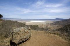 View of the Ngorongoro Crater, tanzania stock photography