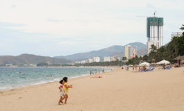 View of Nha Trang beach in Vietnam Royalty Free Stock Photo