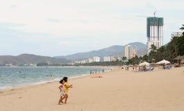 View of Nha Trang beach in Vietnam Royalty Free Stock Photo