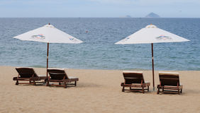 View of Nha Trang beach in Vietnam Royalty Free Stock Photography