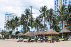 View of Nha Trang beach in Vietnam Stock Images