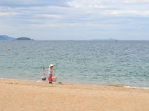 View of Nha Trang beach in Vietnam Royalty Free Stock Image