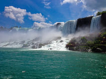 View of Niagara Falls with tourist Royalty Free Stock Photography