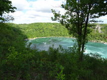 View of the Niagara river surrounded by vegetation Royalty Free Stock Images