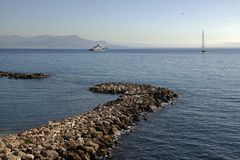 View of Nice from Antibes Royalty Free Stock Photos