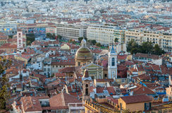 View of Nice city with the Cathedral Royalty Free Stock Photography