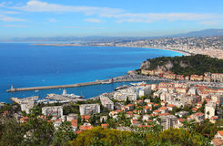 View of Nice, Cote d'Azur, France Stock Photography