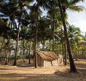 View of nice exotic bamboo hut Stock Images