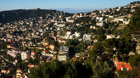 View of Nice, France. NICE, FRANCE- 16 FEB, 2017: Aerial View on Port of Nice, French Riviera, France Royalty Free Stock Photos