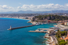 View of Nice (France) Royalty Free Stock Photography