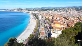 View of Nice, French Riviera stock video