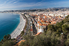 View of Nice in the French Riviera Stock Images