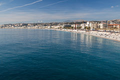 View of Nice in the French Riviera Stock Photos