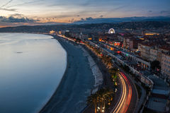View of Nice in the French Riviera, France Stock Images