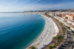 View of Nice in the French Riviera in a sunny day, France Stock Photo