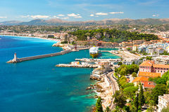 View of Nice, mediterranean resort Royalty Free Stock Images