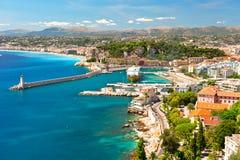 View of Nice, mediterranean resort royalty free stock images