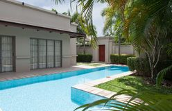 Villa. View of nice modern villa with swimming pool royalty free stock photos