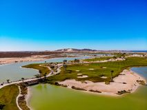 View Of Nicklaus Designed Islas Del Mar Golf Course. In Cholla Bay, Puerto Penasco, Sonora, Mexico looking towards San Juan Hill Royalty Free Stock Photo
