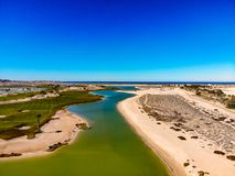 View Of Nicklaus Designed Islas Del Mar Golf Course. In Cholla Bay, Puerto Penasco, Sonora, Mexico looking towards the Sea Of Cortez Stock Photography