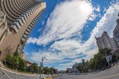 View of Nicolae Bălcescu Boulevard, Bucharest, Romania royalty free stock image