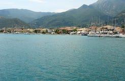 View on the Nidri town. Stock Image