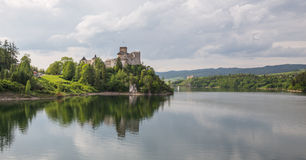 View of the Niedzica castle in Poland / Scenic view royalty free stock images