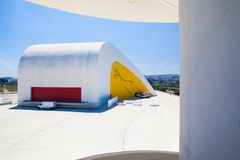 View of Niemeyer Center building in Aviles, Spain. Royalty Free Stock Photography