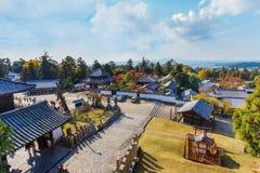 View from Nigatsu-do Hall of Todi-ji complex in Nara Stock Image