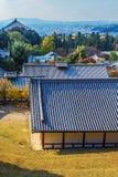 View from Nigatsu-do Hall of Todi-ji complex in Nara Stock Photos