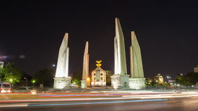 View at night in Bangkok. Constitution Monument,Thailand stock video