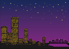 View of night city Stock Image