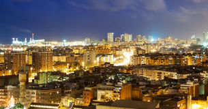 View of night city. Barcelona Stock Photography