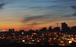 View of the night city Royalty Free Stock Photography