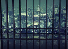 View of a night city Royalty Free Stock Photography