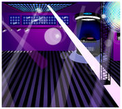 The view of Night club Stock Images
