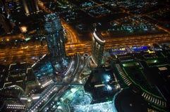 View of night Dubai Royalty Free Stock Photography
