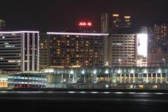 View on night hong kong Royalty Free Stock Images