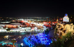The view on night life in Naama Bay Stock Photo