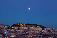 View of night Lisbon Stock Photo