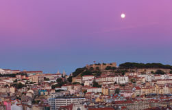 View of night Lisbon Royalty Free Stock Photography