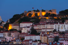 View of night Lisbon Royalty Free Stock Image