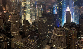 View of the night New York Royalty Free Stock Images