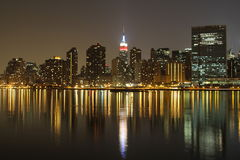 The view of night NYC. This is the view of Empire State building at night Royalty Free Stock Image