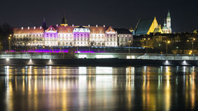 View at night in the old town of Warsaw Royalty Free Stock Photography