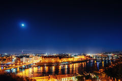 View of night Prague, Czech Republic Royalty Free Stock Photos