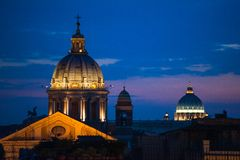 View of night Rome, Italy Royalty Free Stock Photo